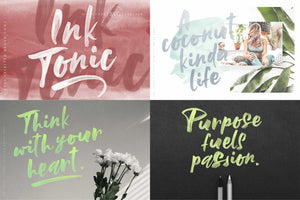 The Beautiful Hand Lettered Font Bundle - 28+ Fonts & Extras-Fonts-Artixty