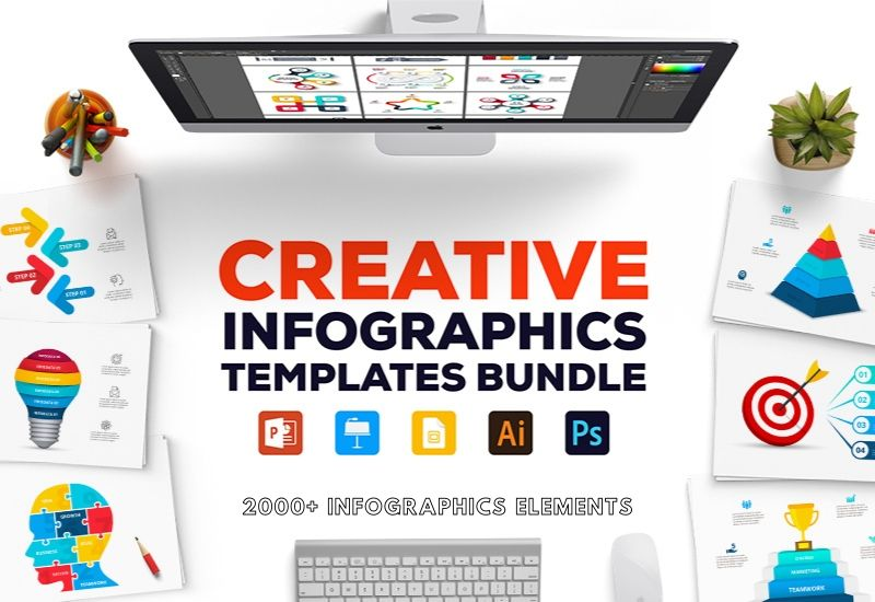 The Creative Infographics Templates - 2000+ Elements-Templates-Artixty