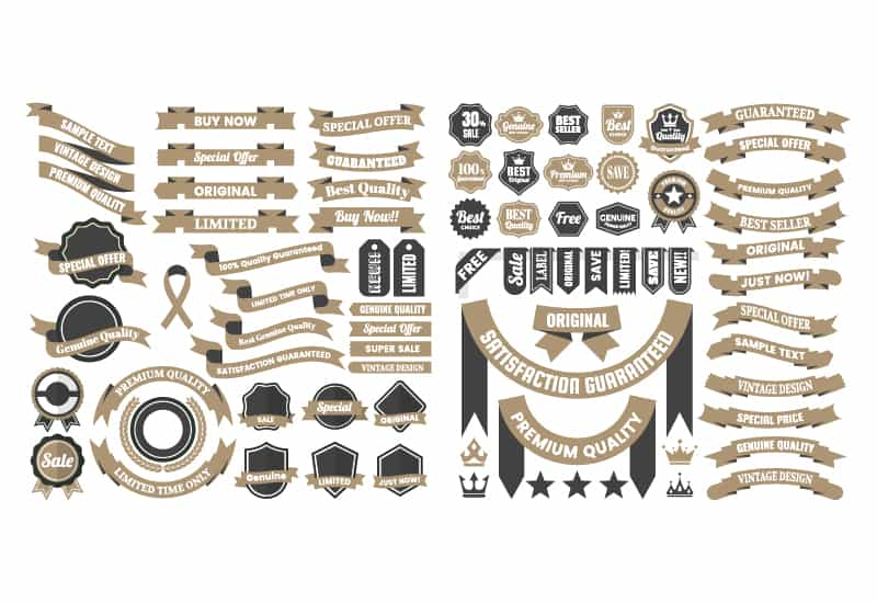 The Massive Vintage Badges And Objects Bundle-Graphics-Artixty