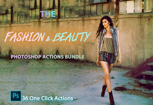 36 Exclusive Fashion & Beauty Photoshop Actions-Add-Ons-Artixty