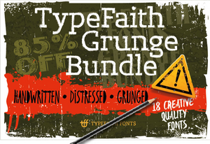 Typefaith Grunge Script Fonts Bundle - 18 Cool Fonts-Fonts-Artixty