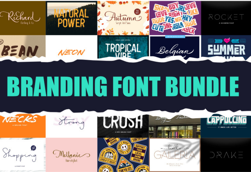 The Branding Font Bundle - 12 Impressive Fonts-Fonts-Artixty