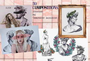 Imperiale - Artistic Watercolor & Ink Bundle-Graphics-Artixty