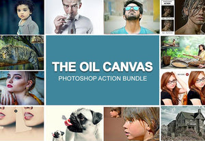 The Oil Canvas Photoshop Actions Bundle-Add-Ons-Artixty