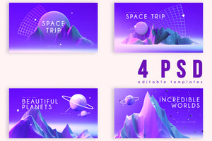 Purple Space - 160+ Eye-Catching Elements-Templates-Artixty