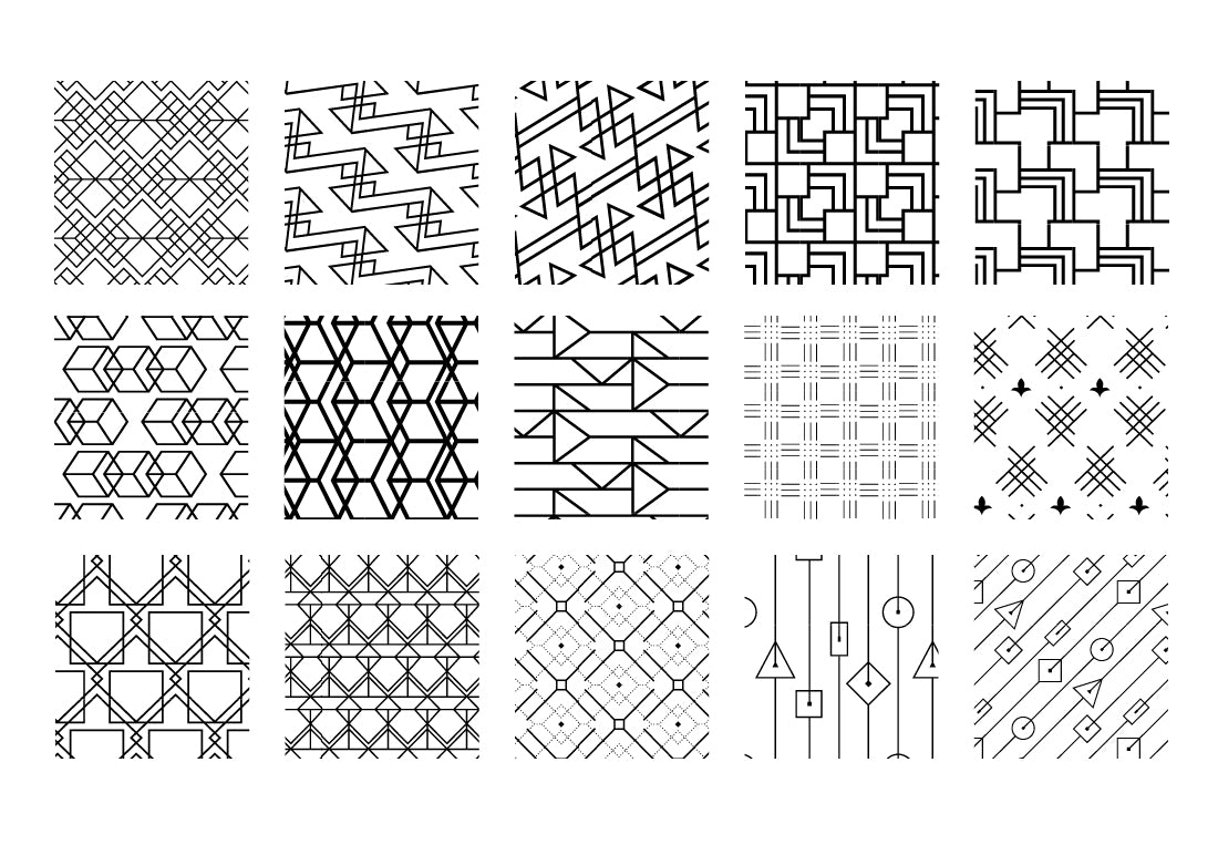 100 Exclusive Geometric Vector Patterns-Graphics-Artixty