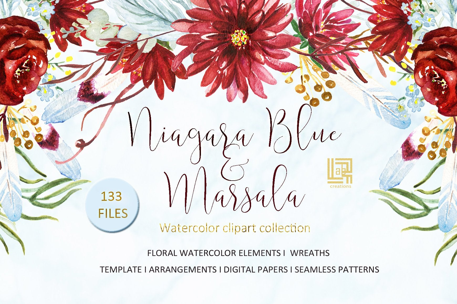 70-In-1 Mega Watercolor Graphics Bundle-Graphics-Artixty