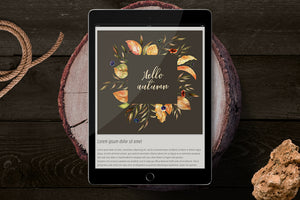 Soft Autumn Watercolor Design Bundle-Graphics-Artixty