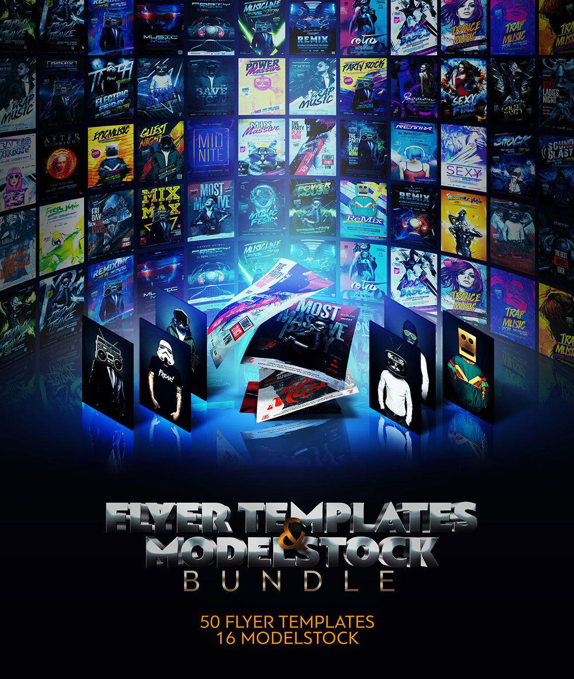 The Phenomenal Flyer Templates & Stock Models Bundle-Templates-Artixty