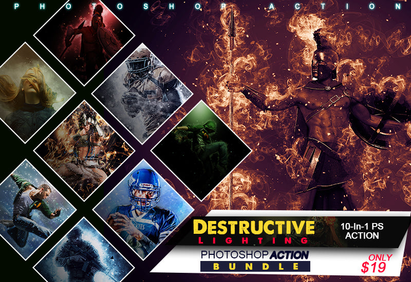 10-In-1 Destructive Lighting Photoshop Actions Bundle-Add-Ons-Artixty