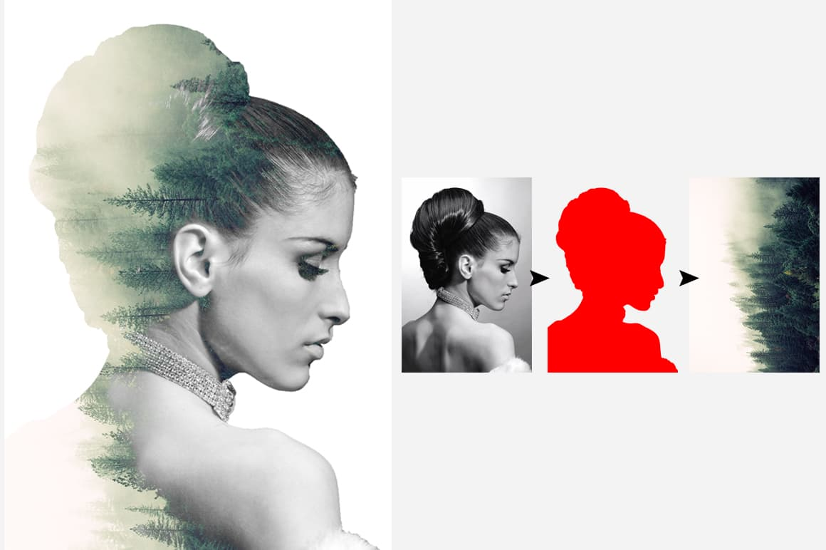 6-In-1 Double Exposure Photoshop Actions Bundle-Add-Ons-Artixty