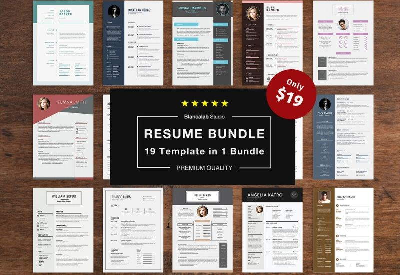 The Executive Resume Template Bundle - 19 Templates-Templates-Artixty