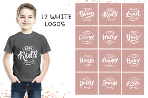 1700+ Fashionable Logos Lettering Bundle For Kids-Graphics-Artixty