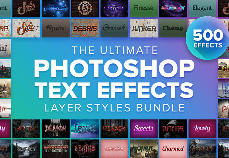 The Ultimate Layer Styles Bundle - 500+ Photoshop Styles-Add-Ons-Artixty