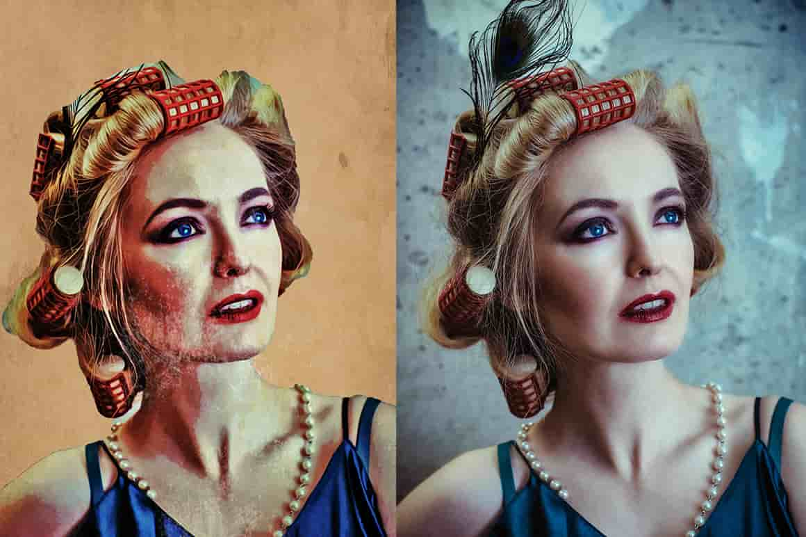 The Impressive Oil Painting Photoshop Actions Bundle-Add-Ons-Artixty