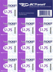 Transit Tickets (10 Pack) - Senior/Student $15.75
