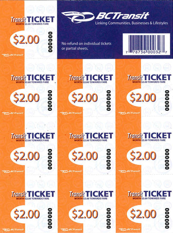 Transit Ticket (10 Pack) - Adult $18.00