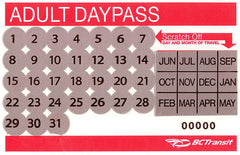 Transit Daypass (Single Ticket) - Adult $5.00