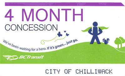 Transit Monthly Pass (4 Month Pack) - Student $112