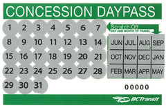 Transit Daypass (Single Ticket) - Senior/Student $4.00