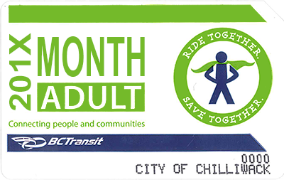 Transit Monthly Pass - Adult $44.00