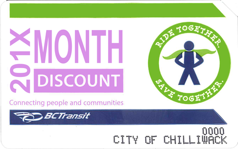 Transit Monthly Pass - Senior/Student $35.00