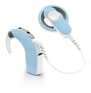 Baby Blue skin for Cochlear Implant, Advanced Bionics