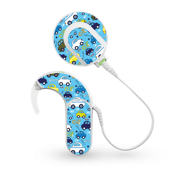 Beep Beep Cars skin for Med-El Sonnet and Sonnet 2 Cochlear Implants