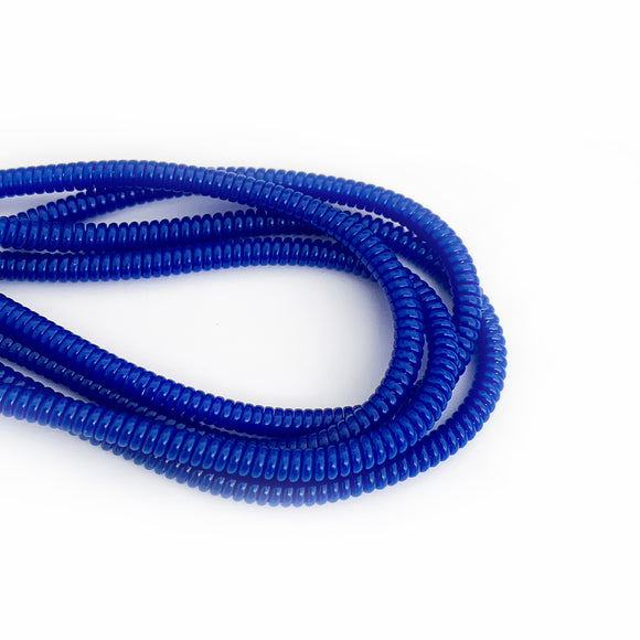 blue cable twist for cochlear implants and hearing aids