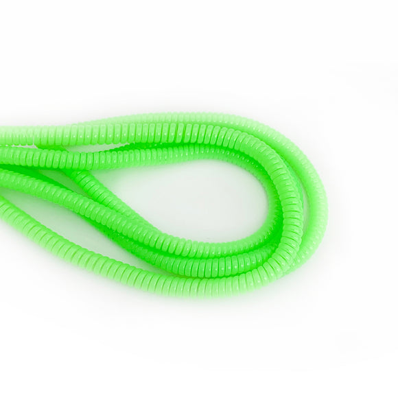 light green cable twist for cochlear implants and hearing aids