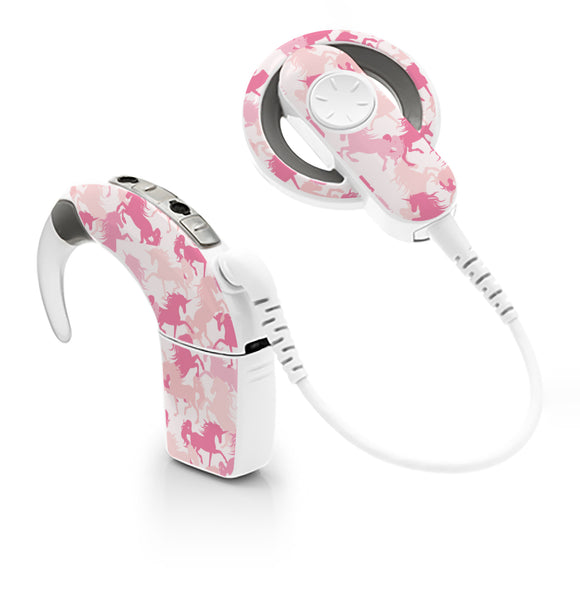 Camo Unicorns skin for Cochlear Implant, Advanced Bionics