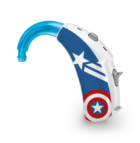 America Superhero skin for Hearing Aid