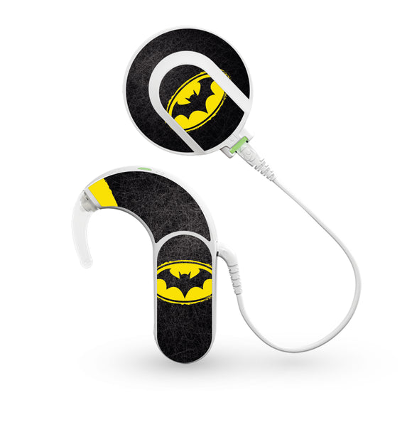 Dark Knight Superhero skin for Med-El Sonnet and Sonnet 2 Cochlear Implants