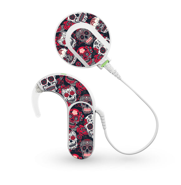 Day of the Dead skin for Med-El Sonnet and Sonnet 2 Cochlear Implants