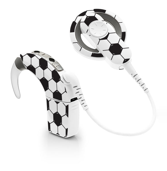 Football skin for Cochlear Implant, Advanced Bionics