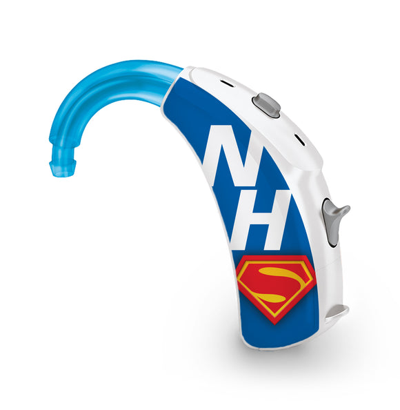 NHS Superhero skin for Hearing Aid