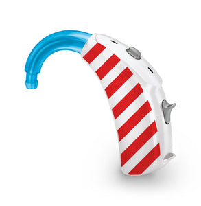 Candy Cane skin for Hearing Aid