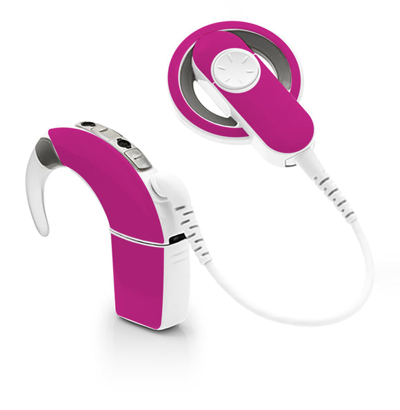 Hot Pink skin for Cochlear Implant, Advanced Bionics