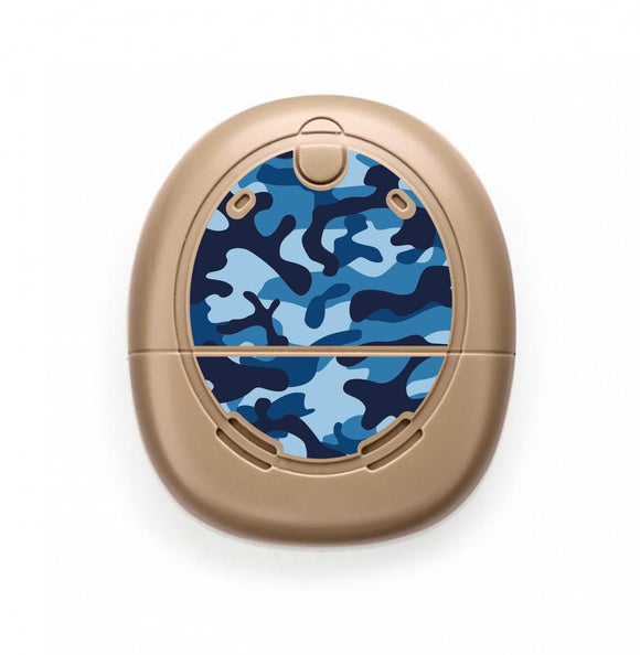Camouflage Blue skin for Nucleus Kanso sound processors