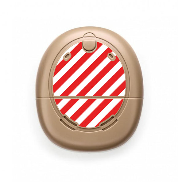 Candy Cane skin for Nucleus Kanso sound processors