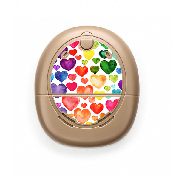 Rainbow Hearts skin for Nucleus Kanso sound processors