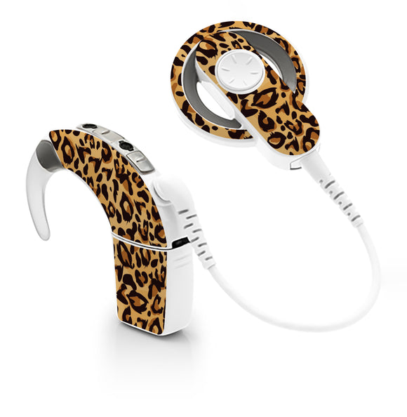 Leopard Print skin for Cochlear Implant, Advanced Bionics