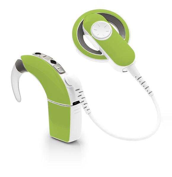 Lime Green skin for Cochlear Implant, Advanced Bionics