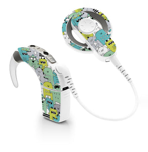 Monster Mayhem skin for Cochlear Implant, Advanced Bionics