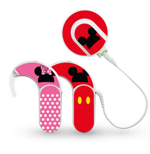 Mr and Mrs Mouse skin for Med-El Sonnet and Sonnet 2 Cochlear Implants