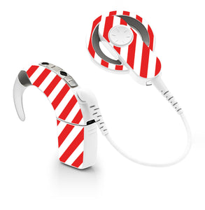 Candy Cane skin for Cochlear Implant, Advanced Bionics