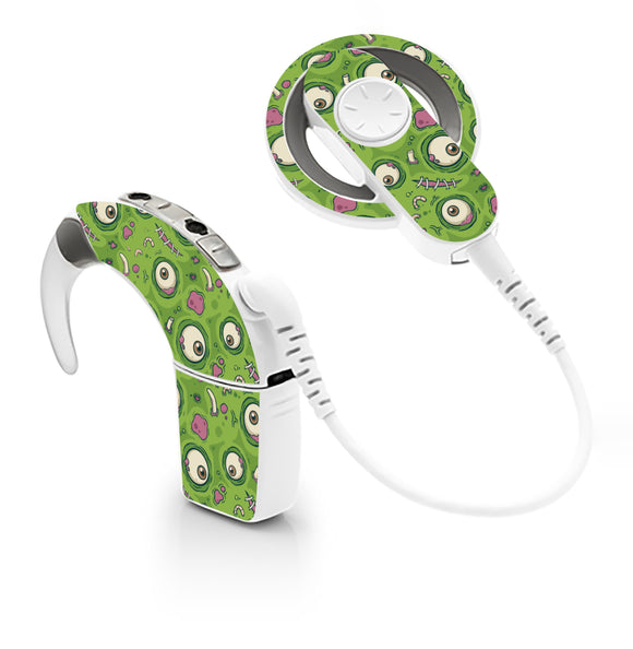 Zombie Eyeballs skin for Cochlear Implant, Advanced Bionics
