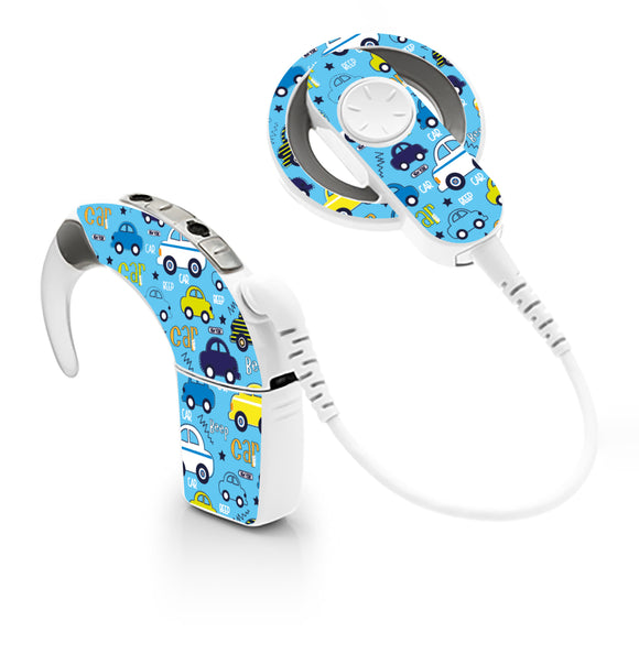 Beep Beep Cars skin for Cochlear Implant, Advanced Bionics