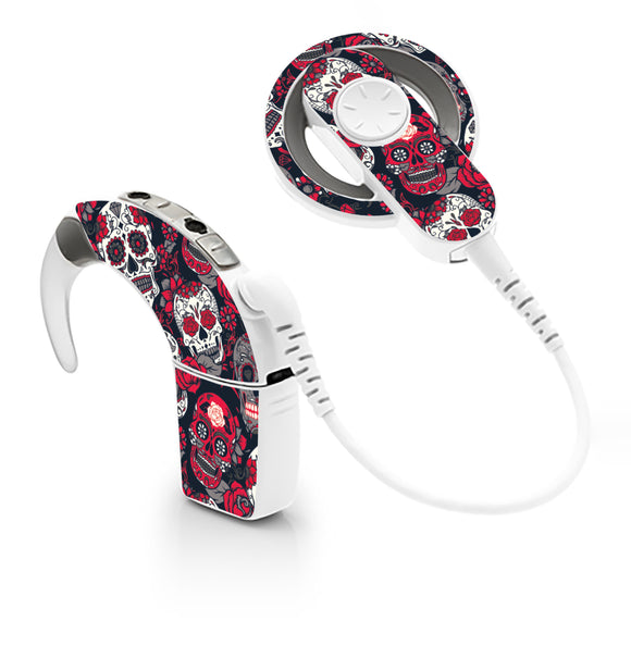 Day of the Dead skin for Cochlear Implant, Advanced Bionics