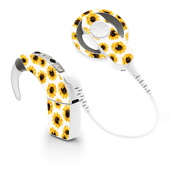 Sunflowers skin for Cochlear Implant, Advanced Bionics